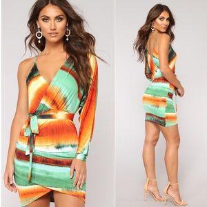 Fashion Nova Me Myself and I One Shoulder Dress